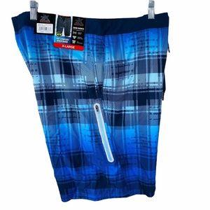 ZeroXposur Men's Swim Trunks Blue Blast Size XL